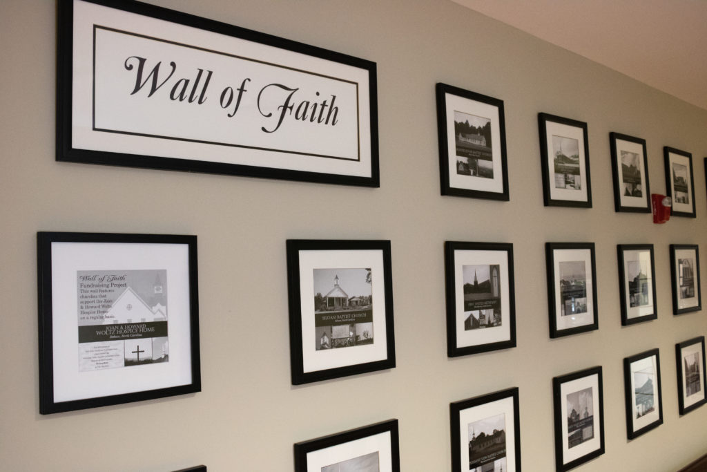 Wall of Faith inside Mountain Valley Hospice.