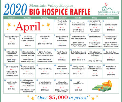 "Mountain Valley Hospice Hosts ""Big Hospice Raffle"" Fundraiser"